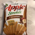 Sensible Portions Cinnamon Apple Straws
